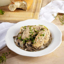 Gluten-Free Chicken with Mushroom Sauce