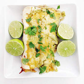 Slow Cooker Chicken Verde Enchiladas