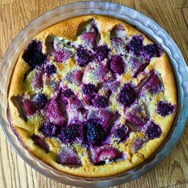 Strawberry Blackberry Clafouti