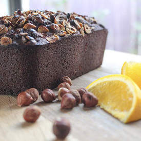Chocolate, Orange and Hazelnut Loaf