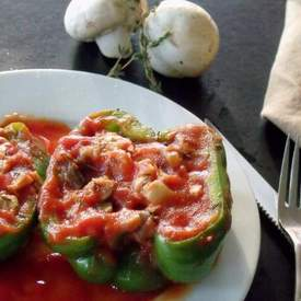 Chicken and Mushroom Stuffed Peppers