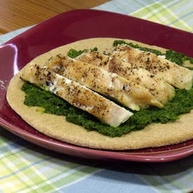 Chicken and Broccoli Pesto Pitas