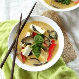 Thai Red Curry with Eggplant and Tofu