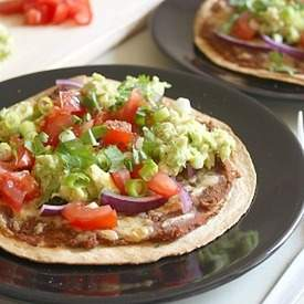 Quick and easy veggie tostadas