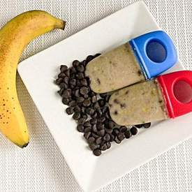Baked Banana Chocolate Popsicles