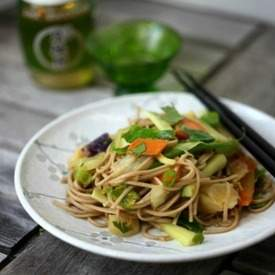 Soba Noodle Salad with Asian Peanut Sauce