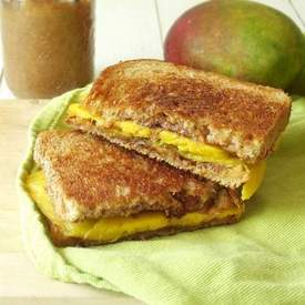Grilled Mango Almond Butter Sandwich