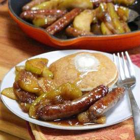 Breakfast Sausages w/ Apples & Riesling