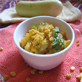 Cucumber With Chana Dal
