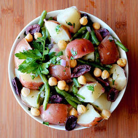 Vegan Nicoise Style Warm Potato Salad