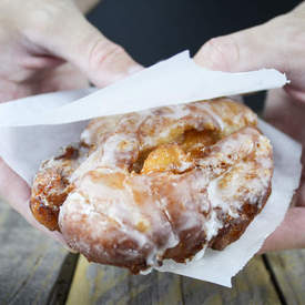 Maple Whiskey Peach Fritters