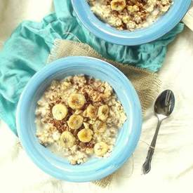 Fried Banana Oatmeal