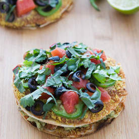 Vegan Mini Mexican Pizzas