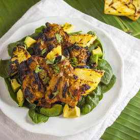Indonesian Grilled Chicken and Pineapple Salad