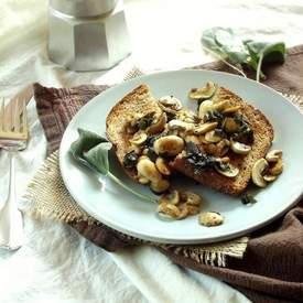 Sauteed Mushrooms and Sage on Toast