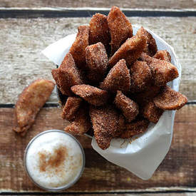 Vegan Cinnamon Apple Fries