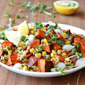 Roasted Sweet Potato & Farro Salad