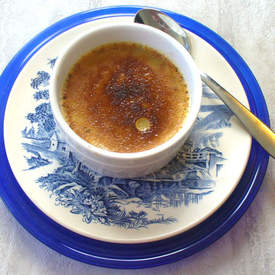 White Chocolate & Vanilla Chai Tea Creme Brulee