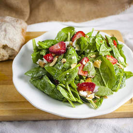 Strawberry Spinach Goat Cheese Salad