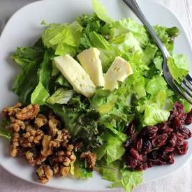Candied Walnut and Warm Brie Salad