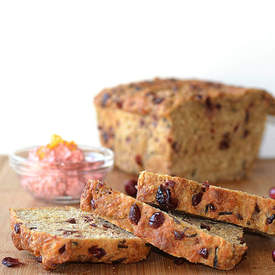 Vegan Cranberry Wild Rice Bread