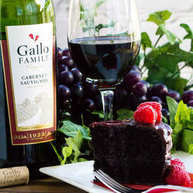 Dark Chocolate Red Wine Cake