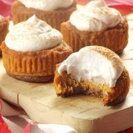 Mini Vegan Pumpkin Cheesecakes
