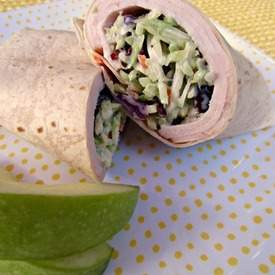Smoked Turkey and Cranberry Slaw Wrap