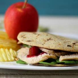 Turkey Cranberry Flatbread