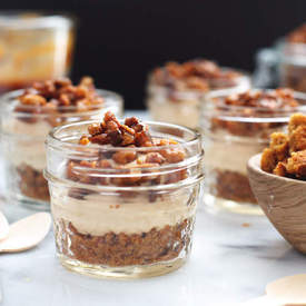 No Bake Caramel Cheesecake Mousse