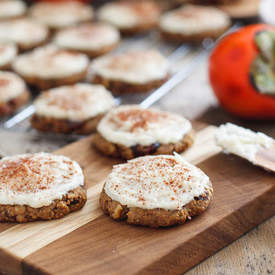 Frosted Spiced Persimmon Cookies