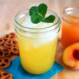 Homemade Peach Soda Pop