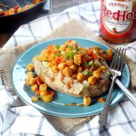 Buffalo Chickpea Stuffed Potatoes