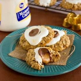 Smore Thumbprint Cookies