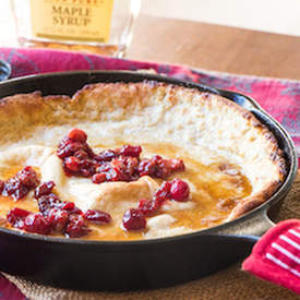 Eggnog Dutch Baby & Cranberries