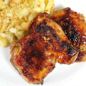 Sweet & Spicy Boneless Chicken Thighs