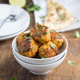 Thai Red Curry Chicken Meatballs