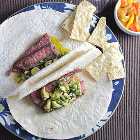 Awesome Avocado Steak Tacos