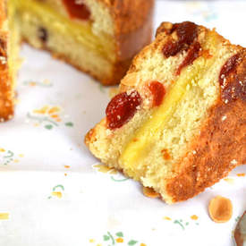 Marzipan and Cherry Cake