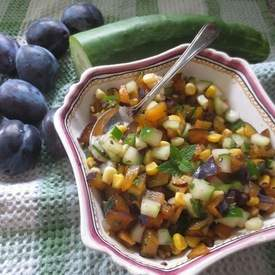 Plum and Mint Salsa