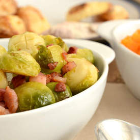 Brussel Sprouts with Pancetta and Orange