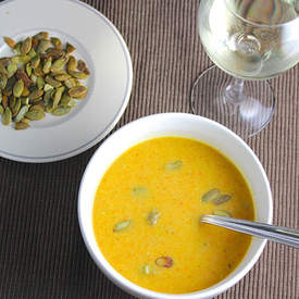 Carrot Ginger Soup and Wine Pairing