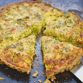 leek tart with hazelnut crust