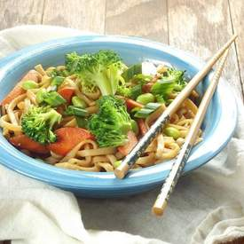 Udon Noodle Vegetable Teriyaki Stir-Fry