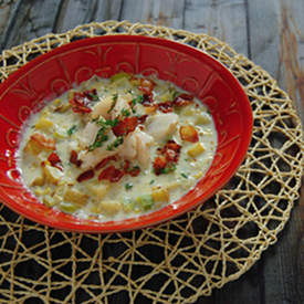Roasted Corn and Cod Chowder