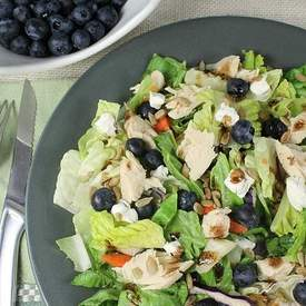 Grilled Chicken Salad w Blueberries