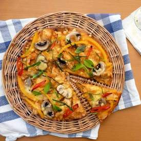 Chicken Panang Curry Pizza