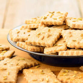 Rye Fennel Crackers