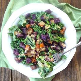 Caramelized Sweet Potato Kale Salad