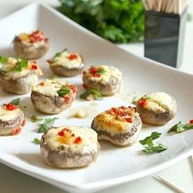 Boursin stuffed mushrooms